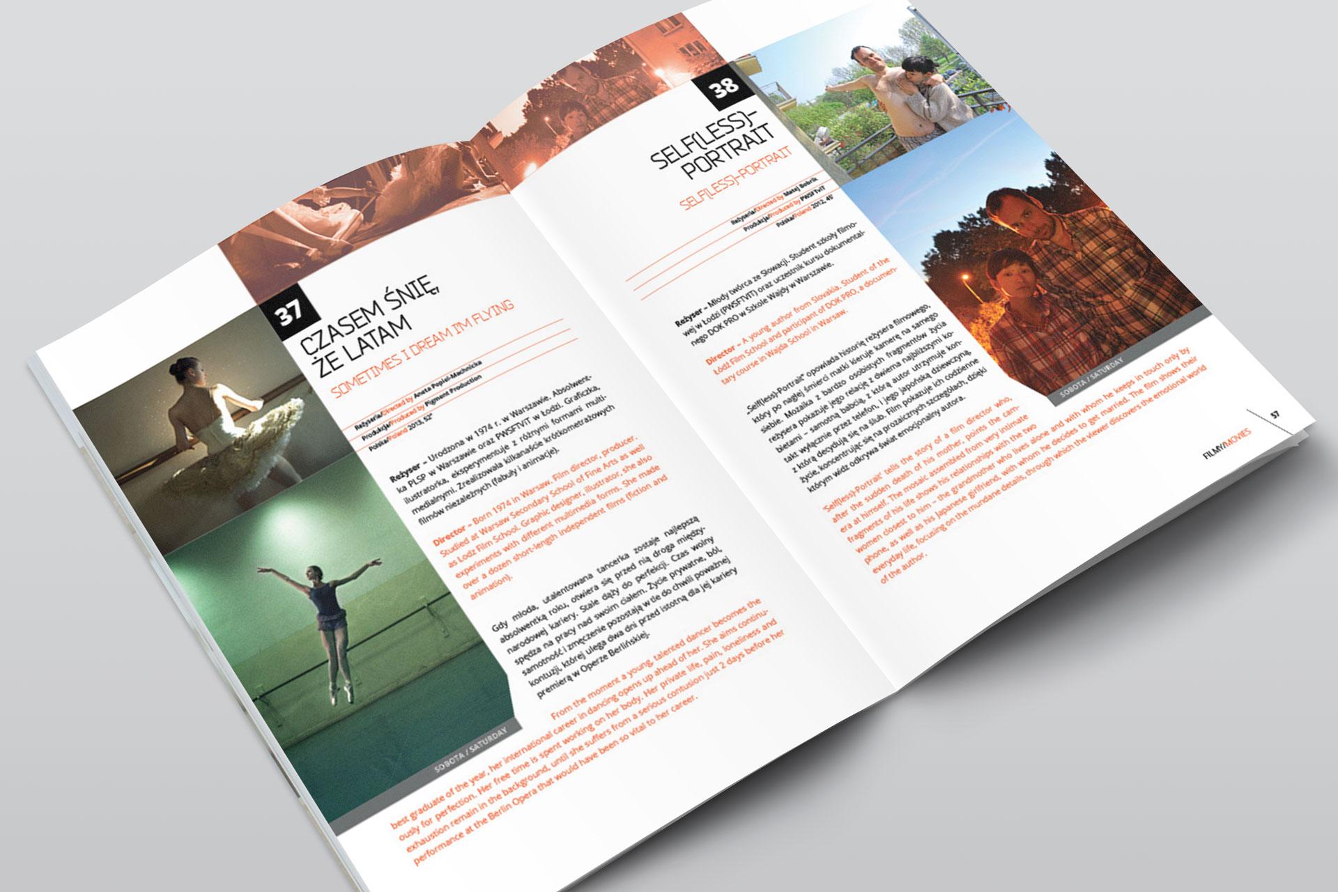 Projekt graficzny katalogu Off Cinema 2013