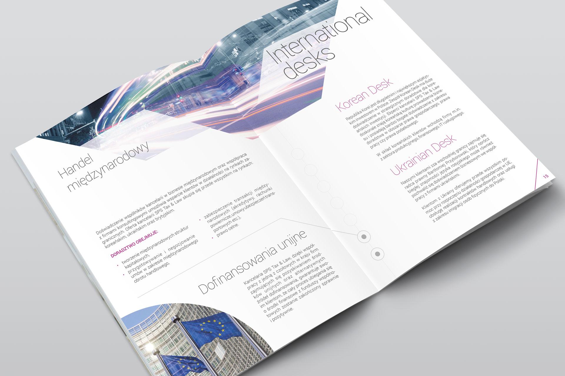 Projekt graficzny folderu firmowego SPS Tax & Law