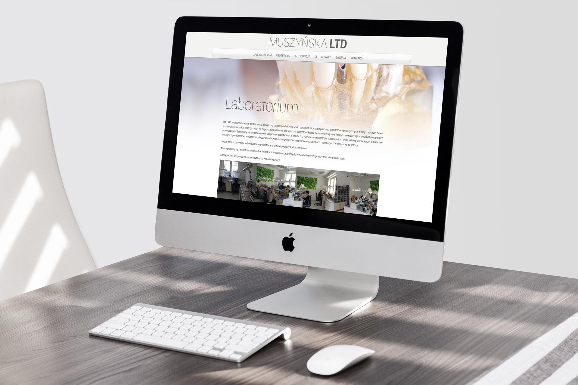 Webdesign i programowanie strony internetowej muszynskaltd.pl