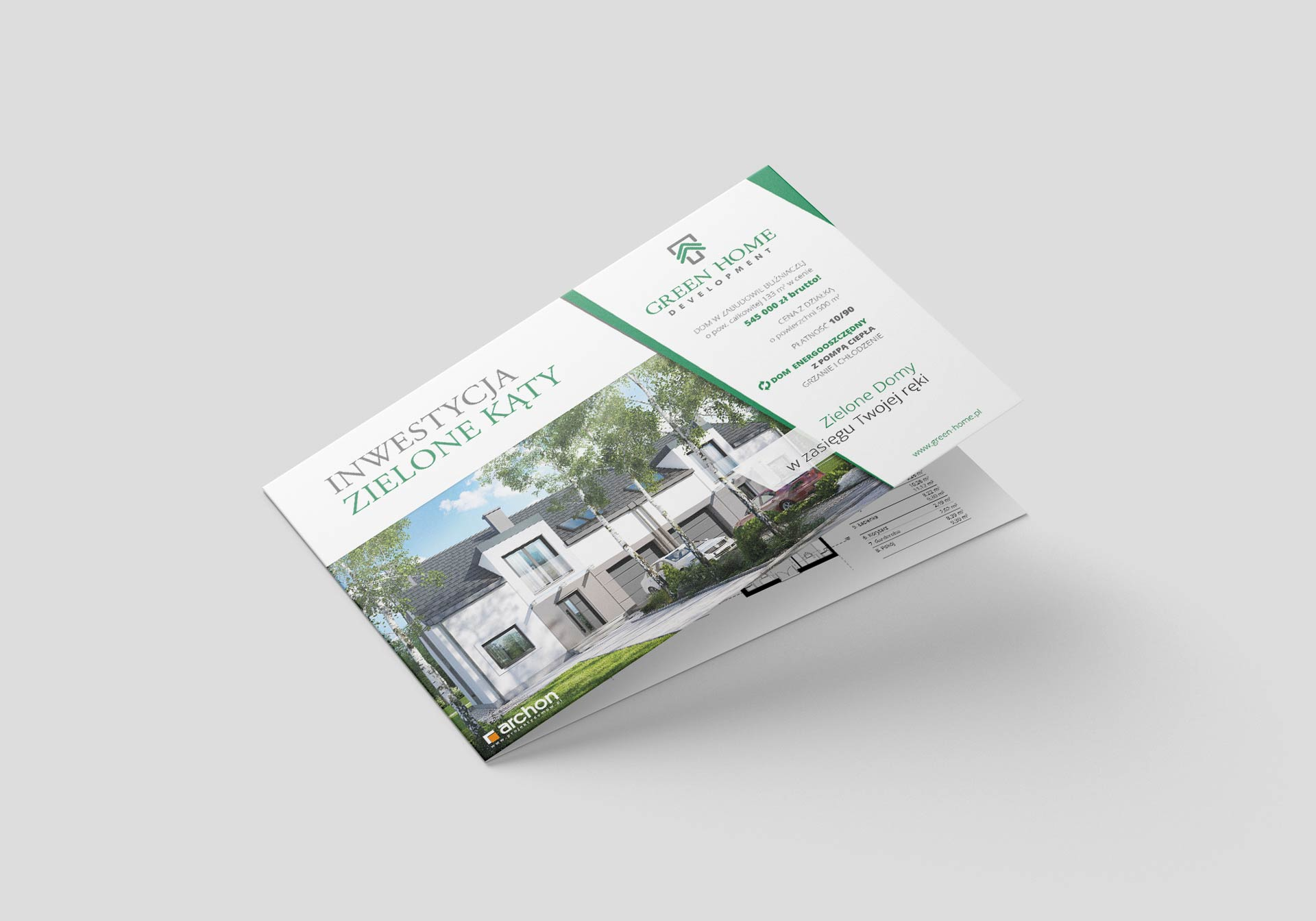 Ulotka reklamowa dla Green Home Development