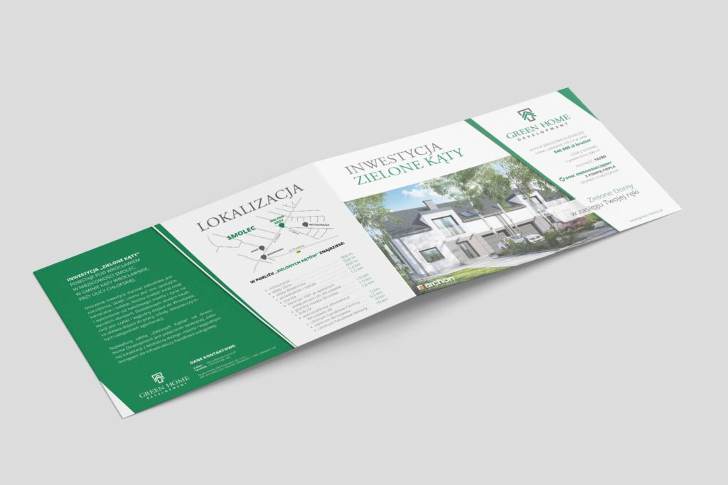 Ulotka reklamowa Green Home Development