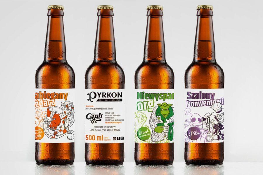 Projekt etykietki na piwo rzemieślnicze (Pyrkon 2018)