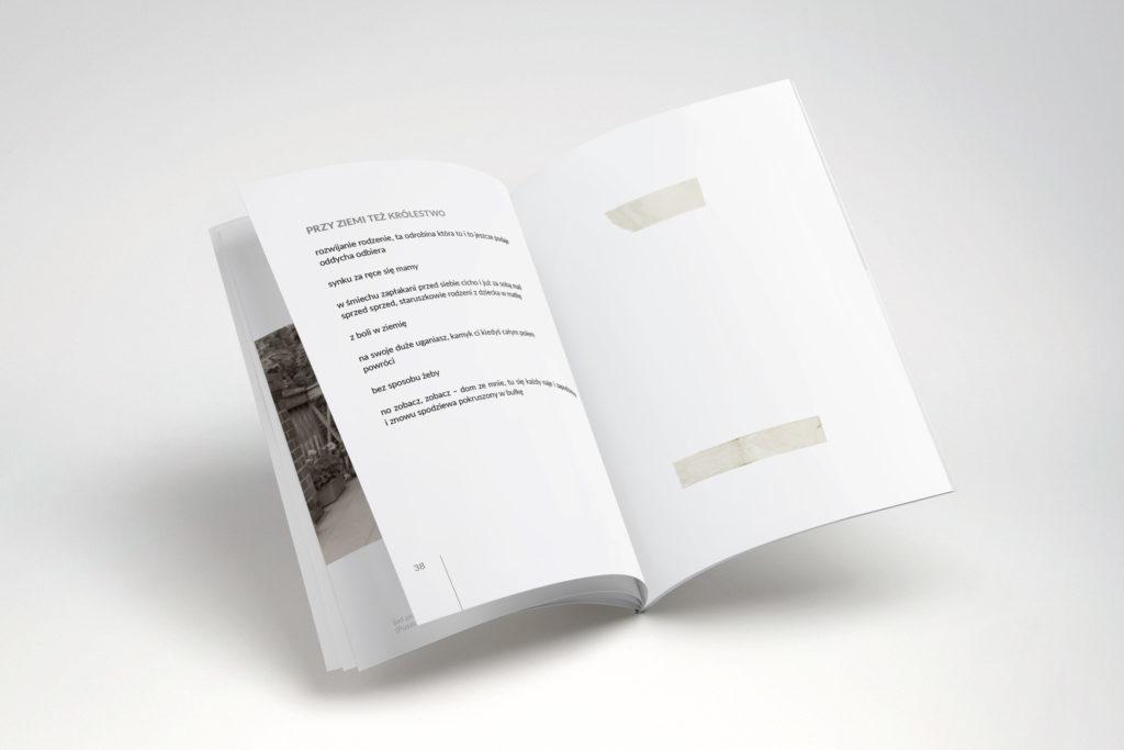 Projekt graficzny i łamanie tomiku poezji