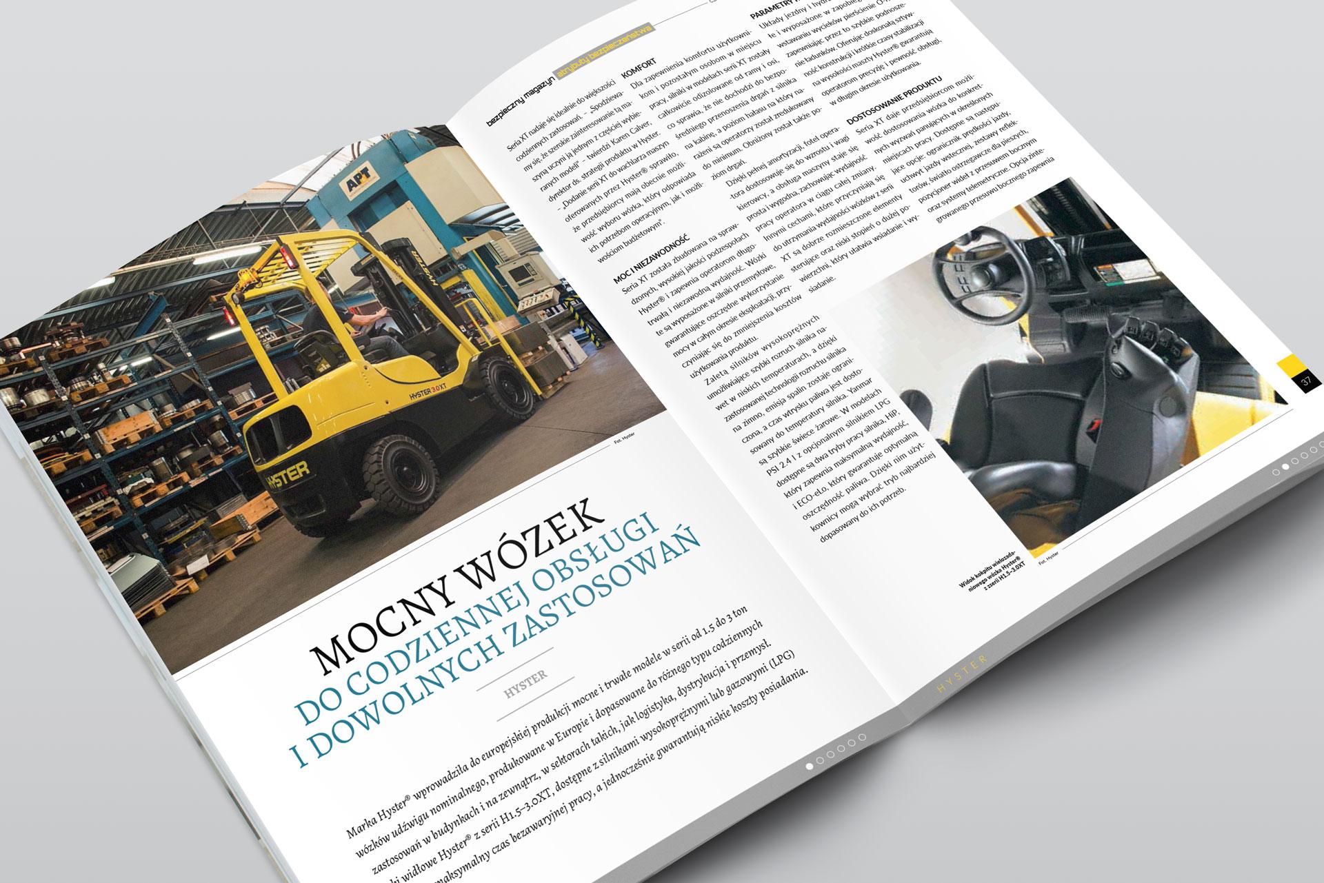 Bezpieczny Magazyn. Projekt graficzny layoutu kwartalnika
