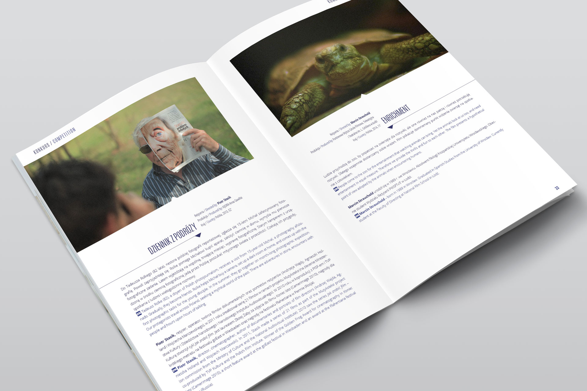 Projekt graficzny katalogu Off Cinema 2014