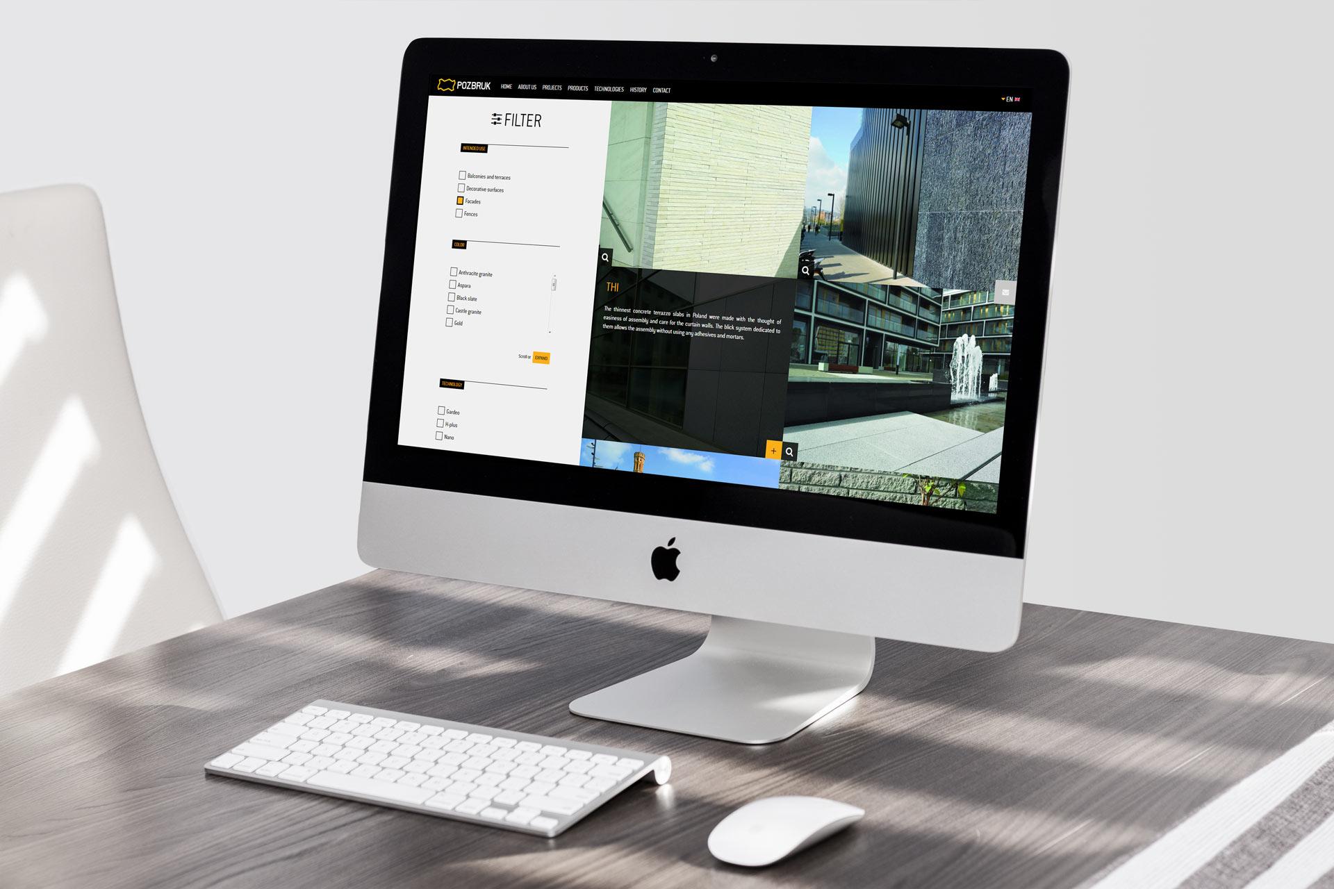 Webdesign i programowanie strony internetowej pozbruk.com