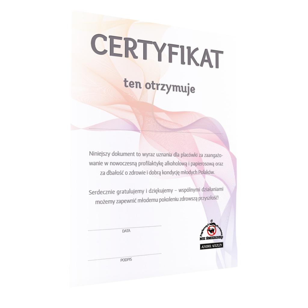 Projekt graficzny certyfikatu