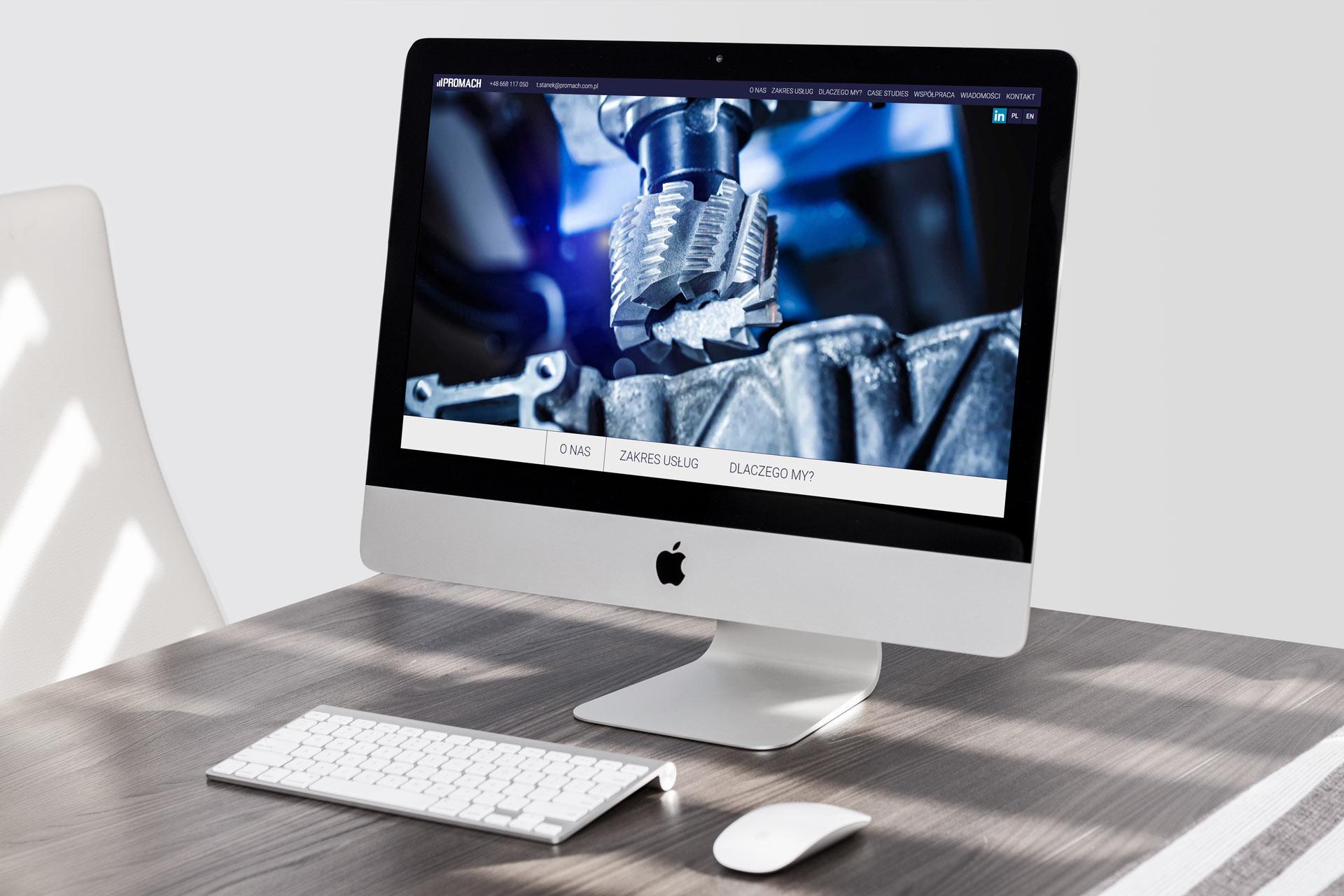 Webdesign i programowanie strony internetowej promach.com.pl