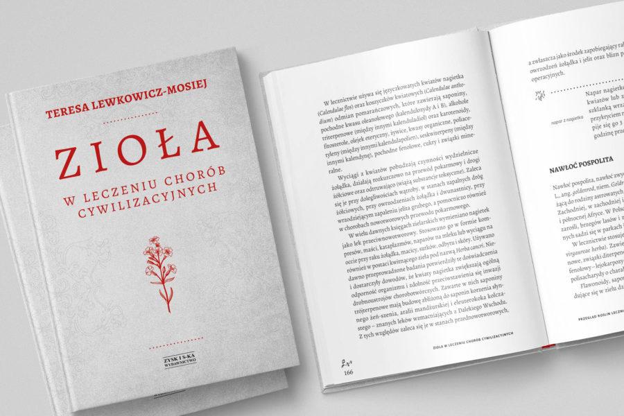 Zioła. Projekt i skład książki