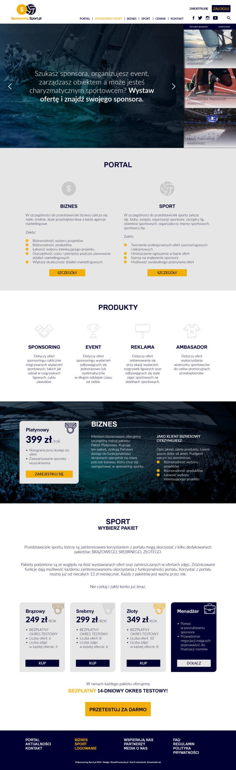 Webdesign strony internetowej