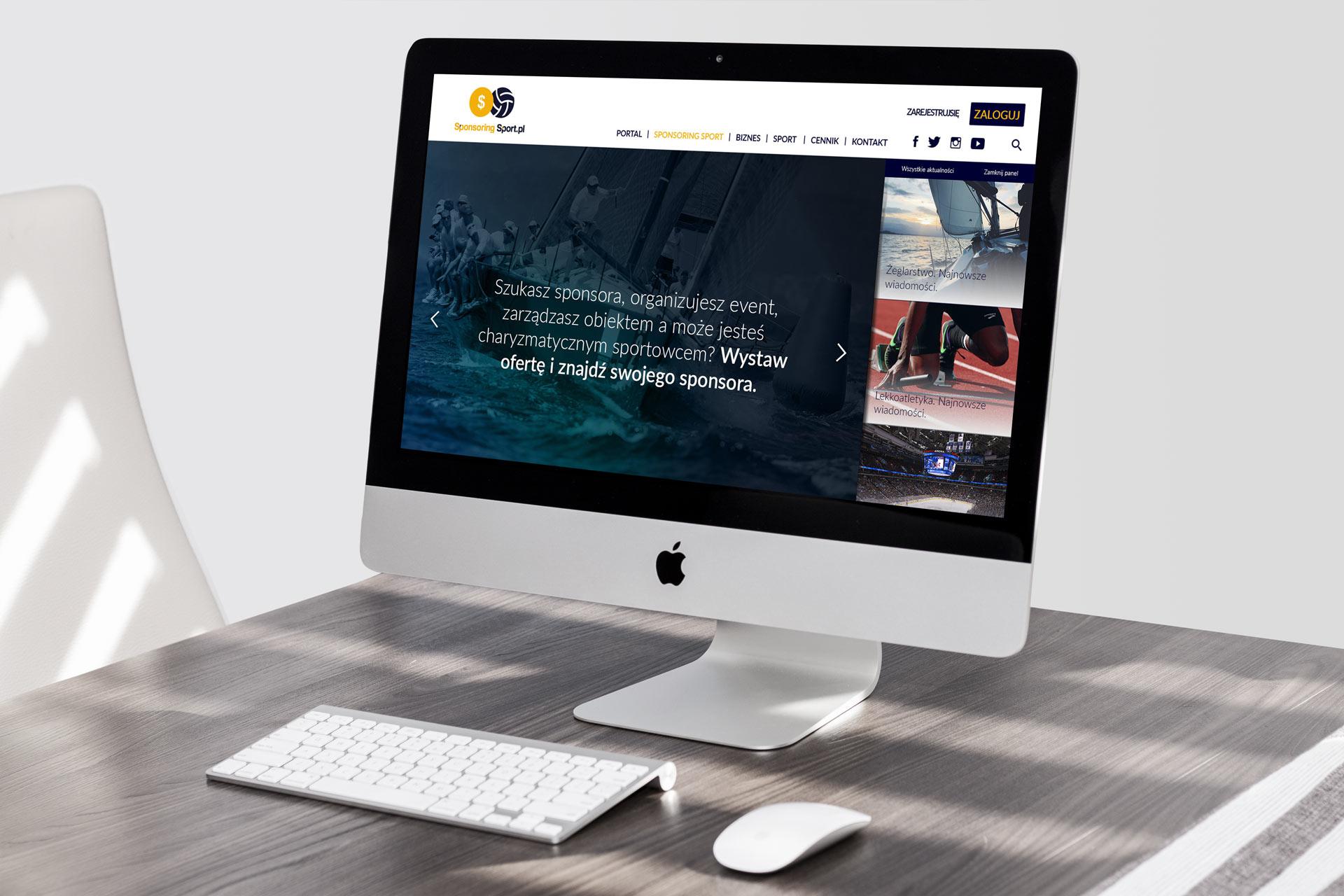 Webdesign portalu SponsoringSport.pl