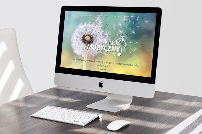 Projek graficzny strony internetowej Kącik Muzyczny