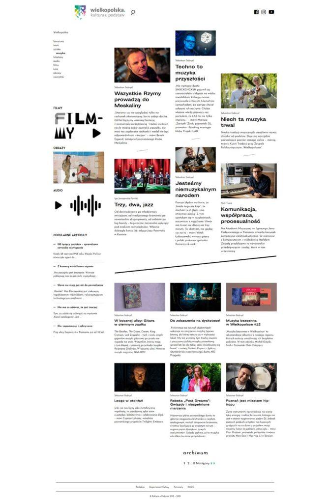 Programowanie strony Kultura u podstaw
