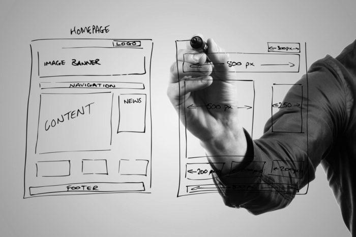 Webdesign UI design w Adobe XD