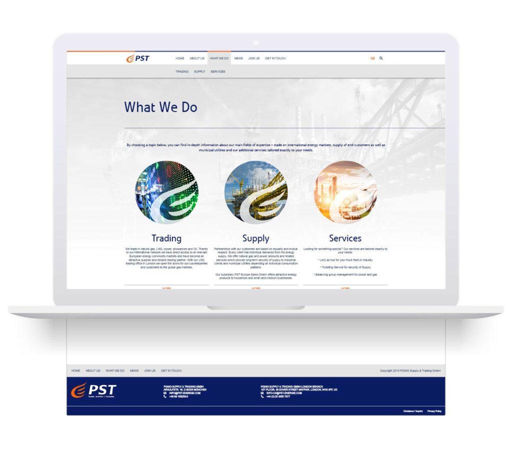 Webdesign i programowanie strony internetowej pst-energie.com