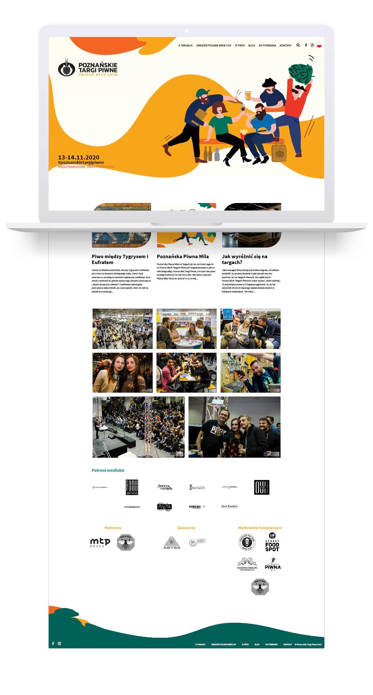 Poznańskie Targi Piwne - projekt graficzny strony internetowej