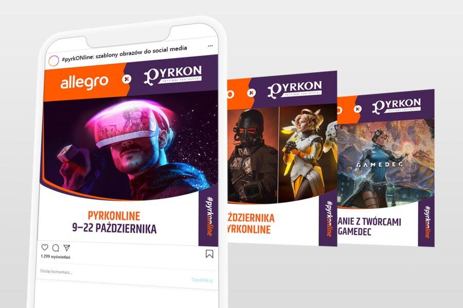 Szablony do social mediów dla Pyrkonu i Allegro
