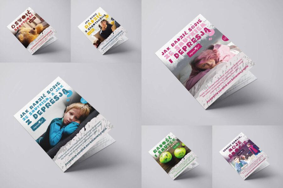 Projekt graficzny kampanii społecznej depresJA